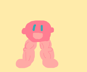 Kirby is happy about growing legs