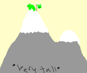Frog conquers mountain