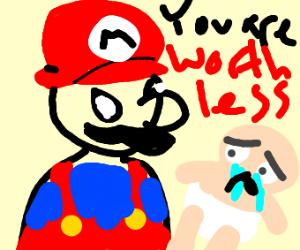 Mario emotionally abusing a child