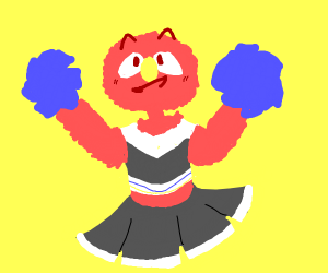 Elmo as Cheerleader