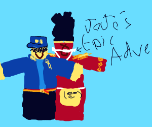 Jotaroblox and his stand.