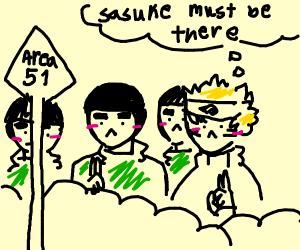 Naruto and 3 Rock Lees Raid Area 51