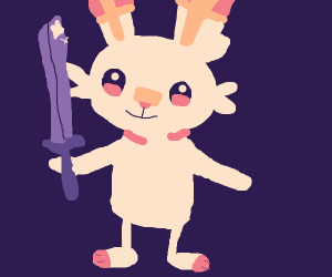 Scorbunny has a sword.