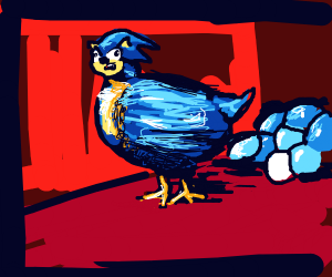 Sonic the chicken laid eggs
