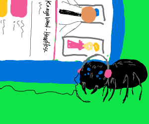 spider listens to kanye