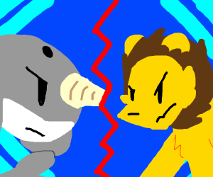 Narwhal and mountain lion epic battle