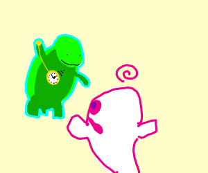 Ghost hypnotized by turtle