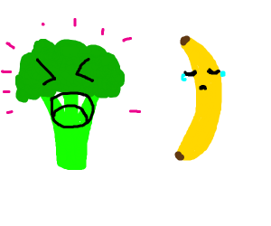 Happy broccoli, sad banana