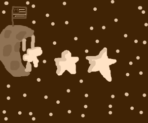 Moon eating stars