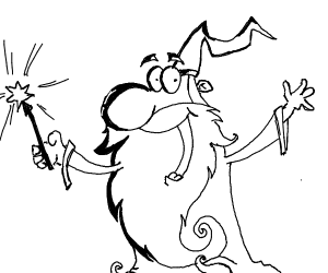Wizard using wand