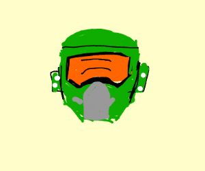 Master Chief head with lights on