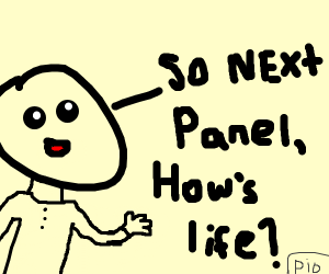 try to have a conversation w/ the next panel