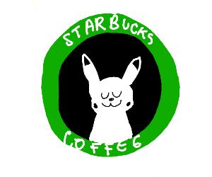 Starbucks logo but its Pikachu