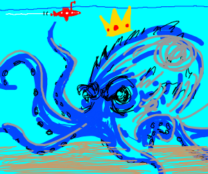 Kraken with a crown