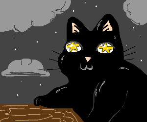 Cat With Star Eyes