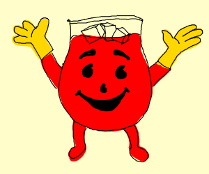 Kool-Aid Man wearing Gloves