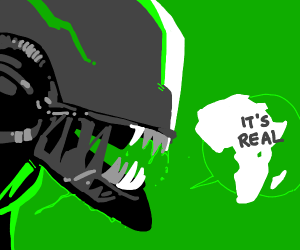 Alien says Africa is a real continent