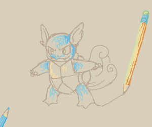Wartortle but the drawing isn't finished :(
