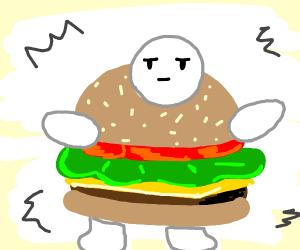 Cheeseburger man