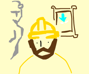 Construction Worker in a Museum