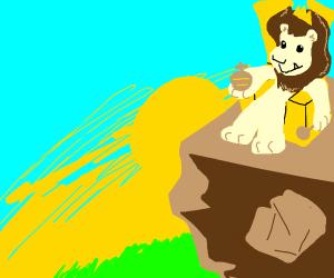 A literal lion king