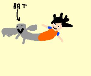 CatDog but instead BatGoku