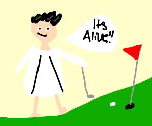 Scientist Golfing