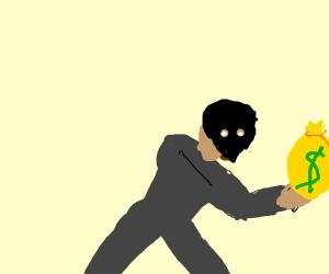 criminal steals money