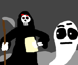 The Reaper is confused by ghost