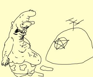 Patrick sees pentagram on his rock