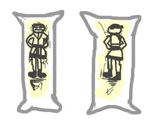 Anime body pillow