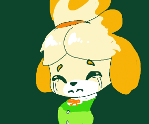 Isabelle crying green tears