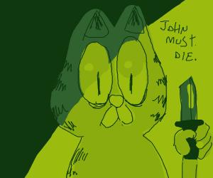 Garfield must kill john