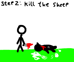 Step 1: peel the sheep