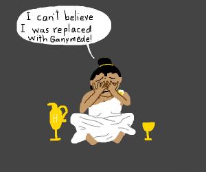 useless goddess crying