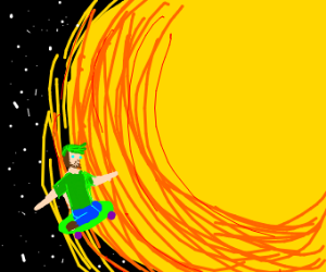 Jacksepticeye skateboarding into the sun