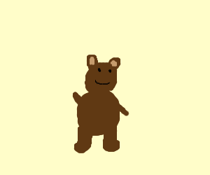 Grizz from We Bare Bears waving