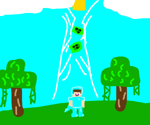 slime (minecraft) going to heaven