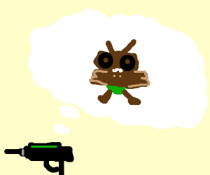 Laser gun dreams about mothman