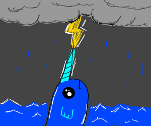 Narwhal in a Thunderstorm