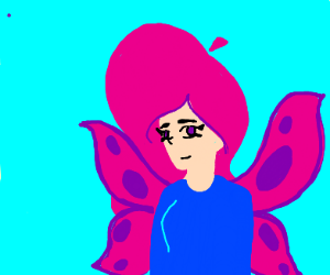 Actual Butterfly Girl