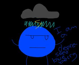 depressed blue berry