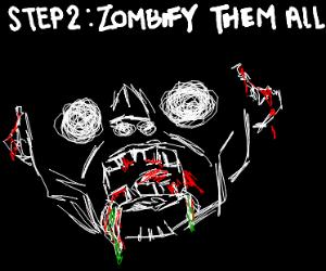 step 1: wreak havoc on human. scare them all