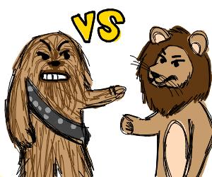 lion vs chewbacca