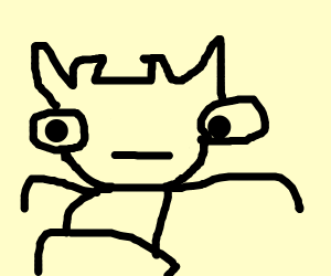 Goat in a Drawception panel
