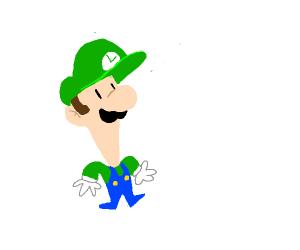 Luigi's Face But Taller Than Normal