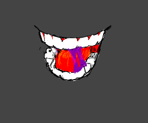 mouth with purple gum