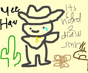 Wild West Sherriff saying Yee Haw