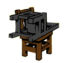 Chair sitting on a chair