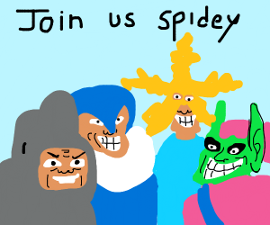 me and the boys want to invite spidey